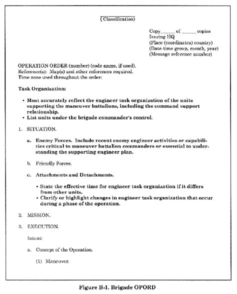 opord template best army opord template photos exle resume ideas