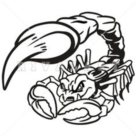 clipart image of a scorpion graphic in black and white