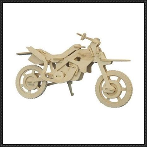 Puzzle Kayu 3d Plane Model B 3d puzzle motorcycle free template http www