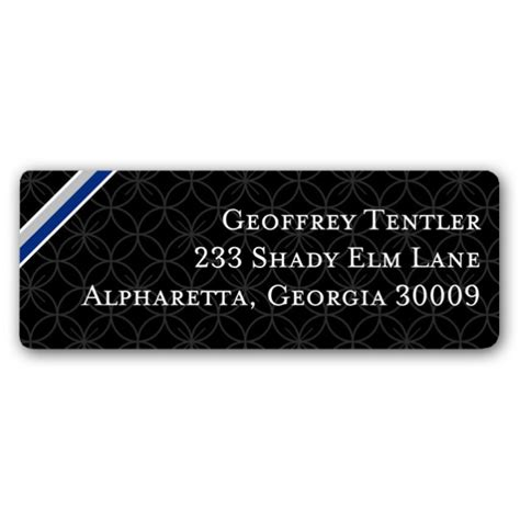 graduation silver blue return address labels paperstyle color ribbon graduation blue silver return address labels