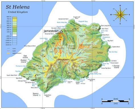 map st island st helena island map islands atlantic