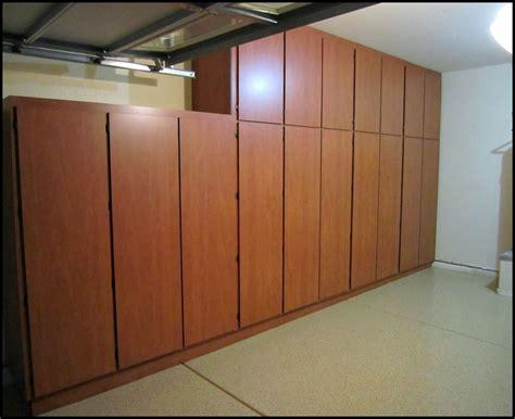 wood garage storage cabinets diy garage storage cabinets home design ideas