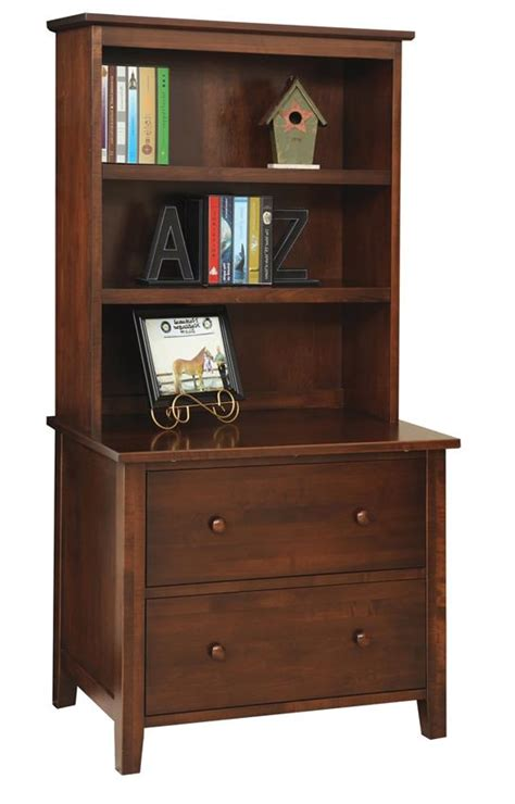 manhattan lateral file with optional bookshelf from