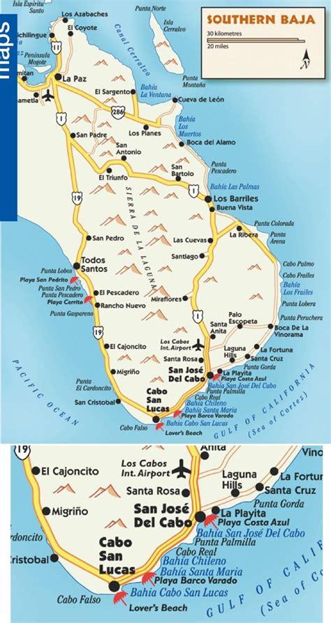 southern mexico map southern baja map