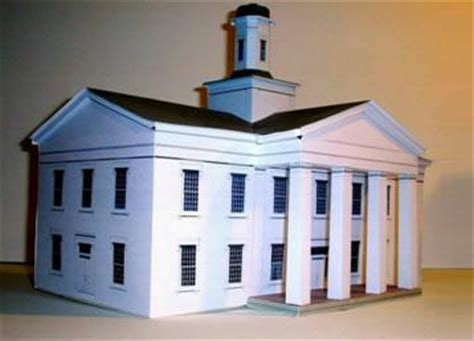 model houses to build papermau vandalia state house paper model by build your