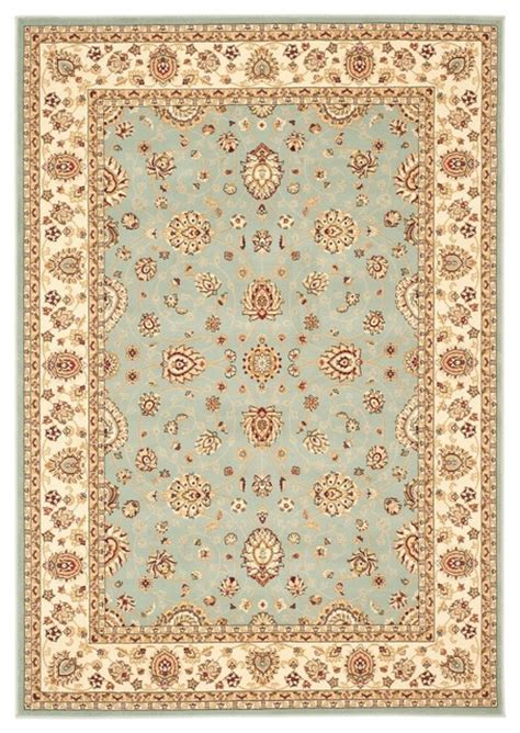7 By 9 Area Rugs Traditional Majesty 7 9 Quot X9 9 Quot Rectangle Light Blue Area Rug Traditional Rugs By Rugpal