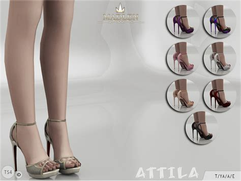 sims 4 shoes the sims resource madlen attila shoes at tsr 187 sims 4 updates