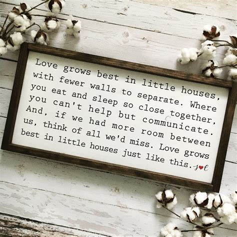 love grows best in little houses sign love grows best in little houses framed wood sign coastal crafty mama