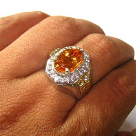 Cincin Besi Putih Mutiara Air Tawar Asli Maluku cincin perak dengan batu citrine asli ukuran ring 9us