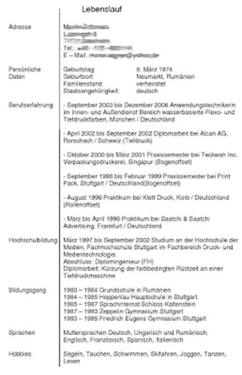 Lebenslauf In Deutschland Arbeiten In Deutschland April 2009