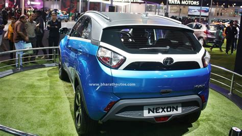 Mba Rear End by Spied Tata Nexon Wears Camo Shows Dual Tone Tailgate
