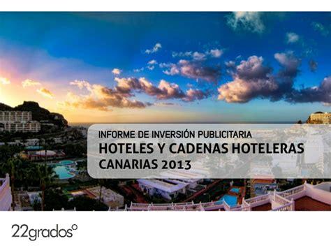 cadenas hoteleras las palmas inversi 243 n publicitaria del sector hoteles en canarias