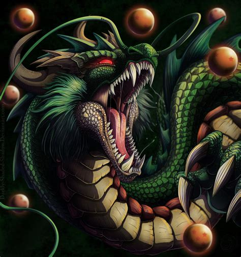 shenron the eternal dragon by darkly shaded shadow on
