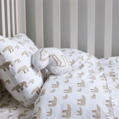 cot bed duvet mother and baby bear cot bed duvet set by lulu and nat