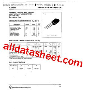 samsung resistor datasheet ksa952 datasheet pdf samsung semiconductor
