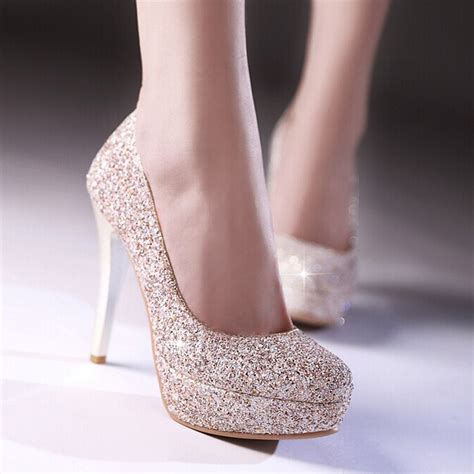 2015 glitter dress shoes stiletto heel