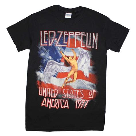 Tshirt Led Zepplin Black B C led zeppelin t shirt led zeppelin s america 1977 t shirt
