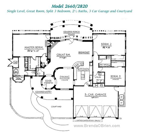 great room floor plan pusch ridge vistas ii floor plan model 2820