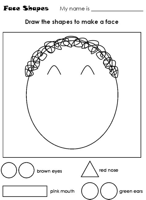 kindergarten activities my face parts of the face worksheets buscar con google