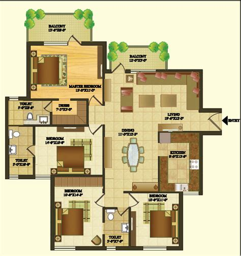 home plan design 4 bhk sare crescent parc gurgaon crescent parc sector 92 gurgaon