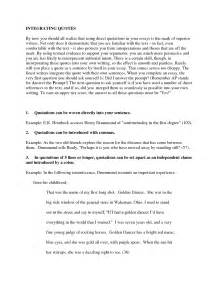 Writing Quotes In Essays by Parts Of Quotes In Essay Quotesgram