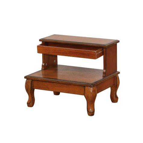 lowes furniture risers shop powell 1 15 25 in cherry wood bed riser at lowes