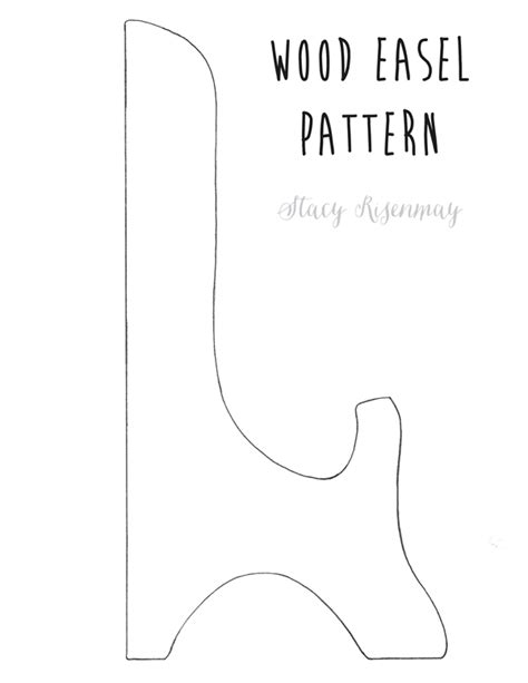 wood easel pattern diy wood table top easel stacy risenmay