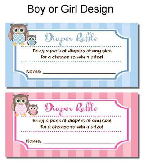 baby shower diaper raffle tickets free template search