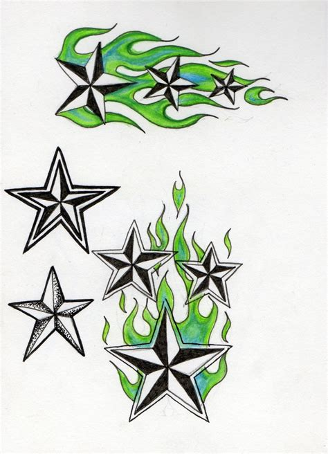 star with flames tattoo designs and flames designs
