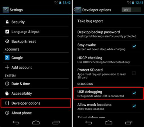 developer options for android how to enable usb debugging on android phones according to different version