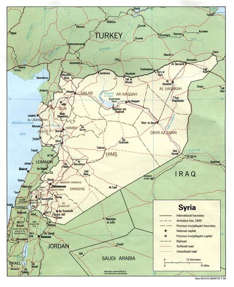 Syria On Map by Nationmaster Maps Of Syria 19 In Total