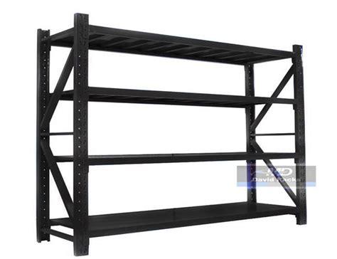 Garage Shelving Ebay Australia 2mx0 6mx2m Black Garage Storage Shelving Shelves Warehouse
