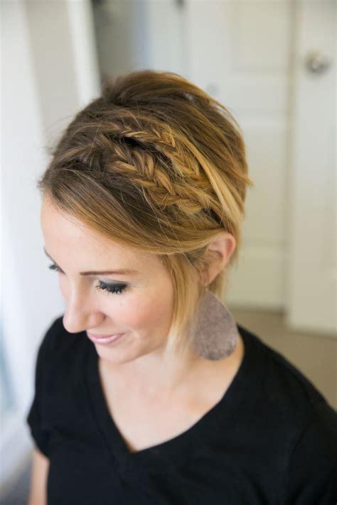 disheveled pixie hair style tutorial double fishtail for short hair easy bob or long pixie