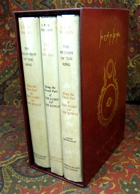 the lord of the rings 1st uk edition early printings with