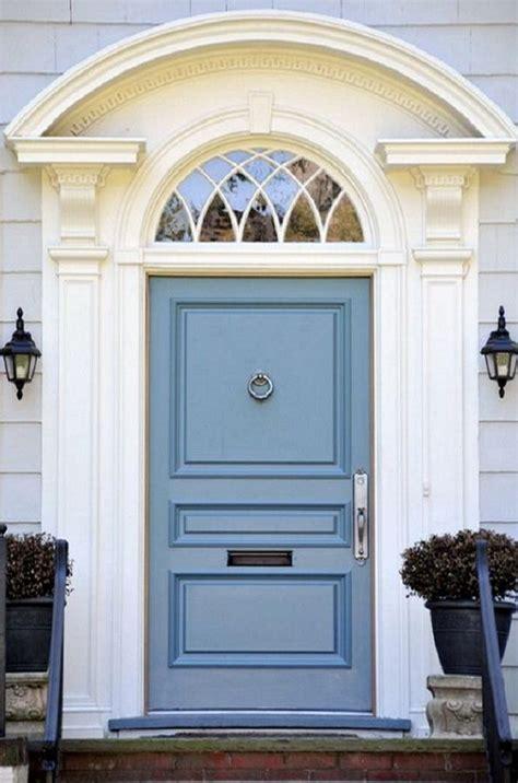 Blue Gray Front Door Gray With Blue Gray Door Exterior Color Schemes
