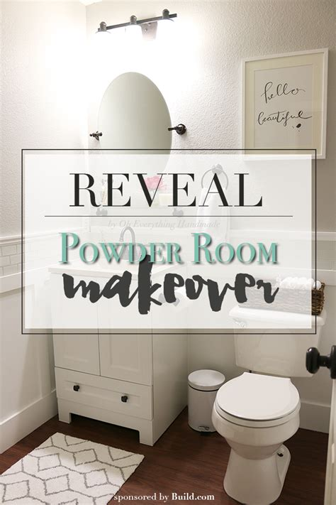 powder room makeovers reveal powder room makeover 187 oh everything handmade