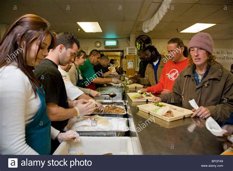 soup kitchen volunteers stock photos soup kitchen