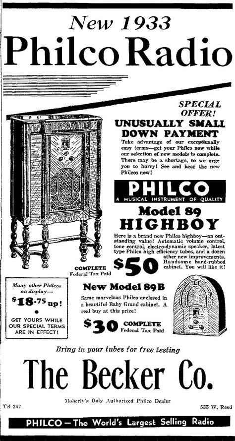Philco Model 89 (89B) Cathedral Radio (1933)