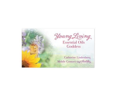 printable young living business cards business card design design for catherine lindenberg a