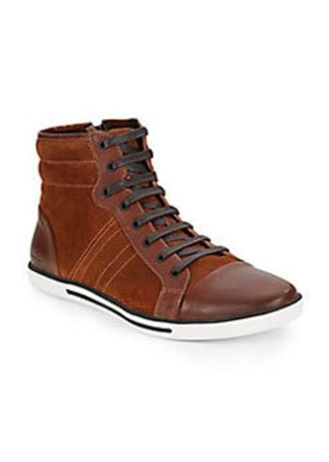 kenneth cole high top sneakers kenneth cole kenneth cole set the speed suede leather