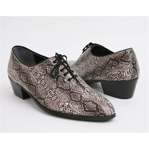 pattern on dress shoes mens made by hand snake pattern oxfords 1 77 inch heel