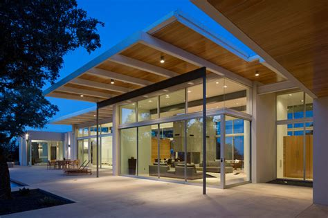 Modern Exterior Sliding Glass Doors Porch With Sliding Glass Doors Modern Exterior By Clark Associates
