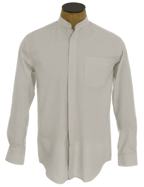 collarless shirt s collarless banded collar dress shirt ebay
