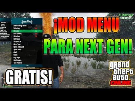 nuevo mod menu de gta v de pago youtube nuevo mod menu para next gen gratis 168 apex 168 el mejor mod