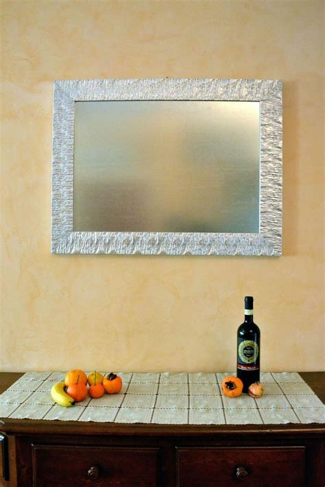 cornici in legno per specchi specchiera con cornice di design in legno laccato argento