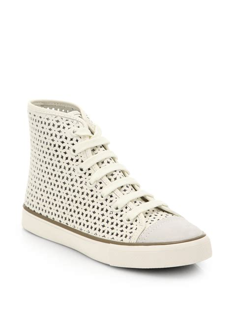 burch sneaker lyst burch perforated leather high top