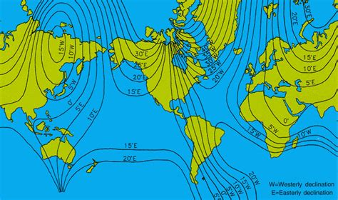 magnetic declination map magnetic declination map and calculations why do they vary