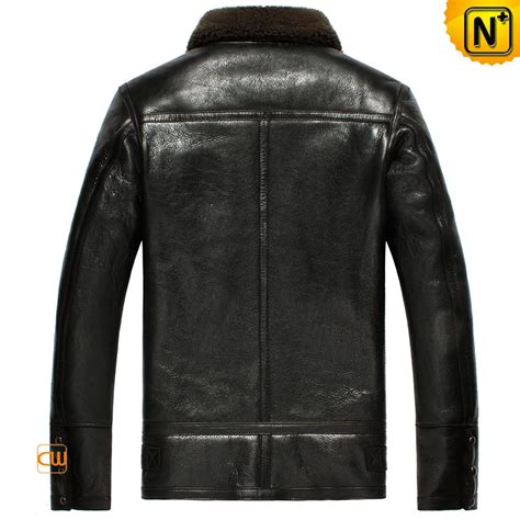 bomber jacket black b 3 sheepskin leather bomber jacket cw856135