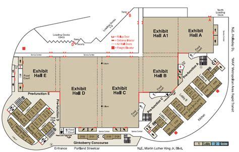 oregon convention center floor plan venues oregon convention center