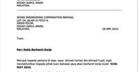panas giler djdanchef contoh surat rasmi tidak hadir